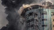 Raketen bringen Hochhaus in Gaza zum Einsturz
