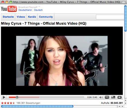 """7 Things"": Im Video zur Single ist Disney-Star Miley Cyrus mal nicht Hannah Montana, sondern ganz sie selbst"