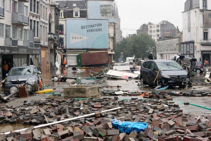 Zerstörung in der belgischen Stadt Verviers