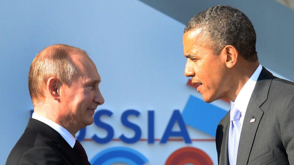 Präsidenten Putin, Obama (im Jahr 2013): Waffenlieferungen wären ein Fehler