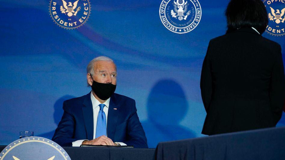 President-elect Joe Biden und seine Kandidatin für das Amt der Handelsbeauftragten, Katherine Tai