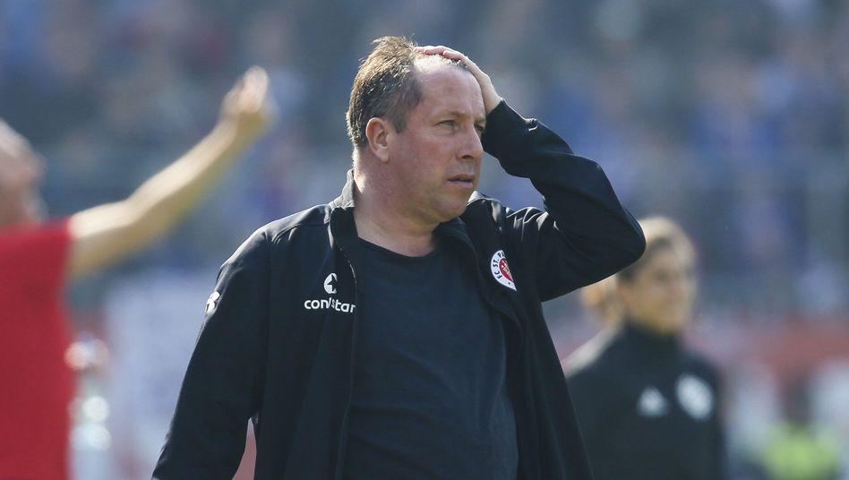 Markus Kauczinski war seit Dezember 2017 Trainer des FC St. Pauli