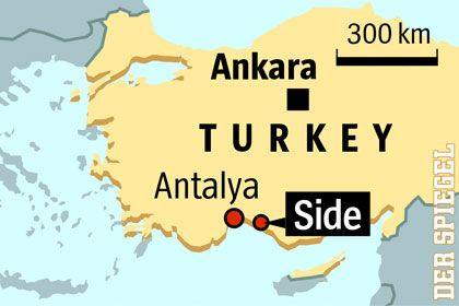 The family vacationed on Turkey's southern coast