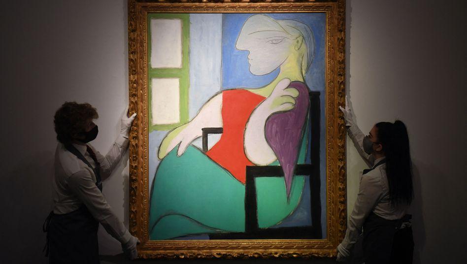 Picassos »Sitzende Frau am Fenster (Marie-Thérèse)« bei der Versteigerung in New York