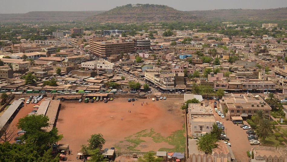 Blick über Bamako in Mali