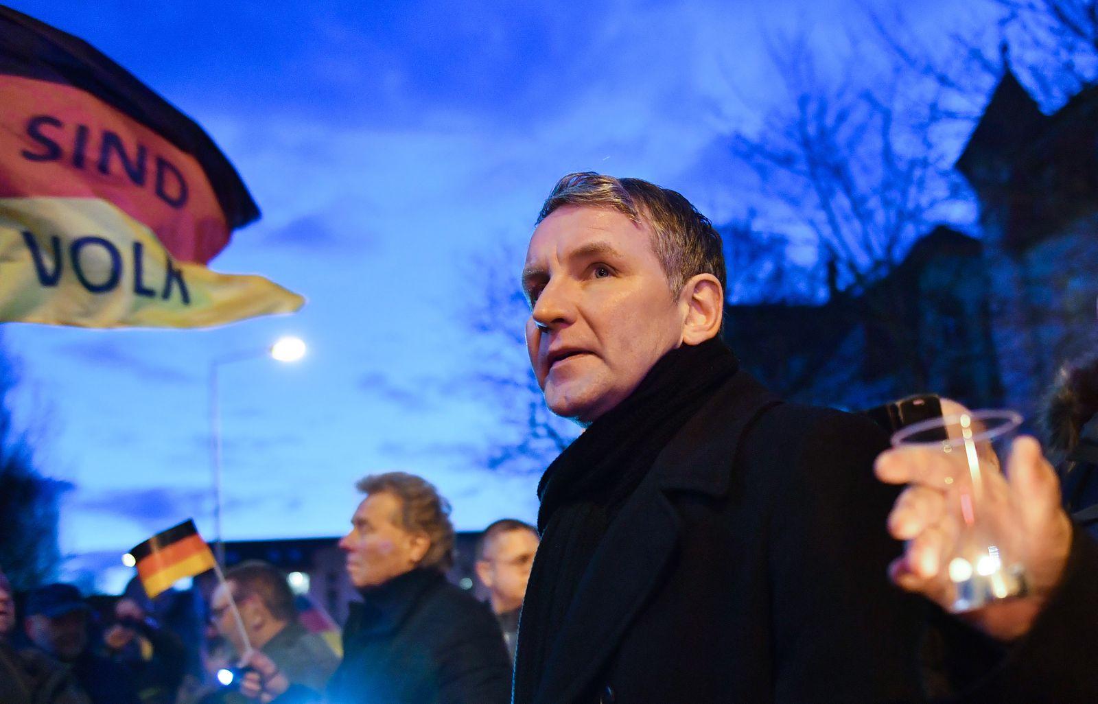 AfD demonstriert am Thüringer Landtag