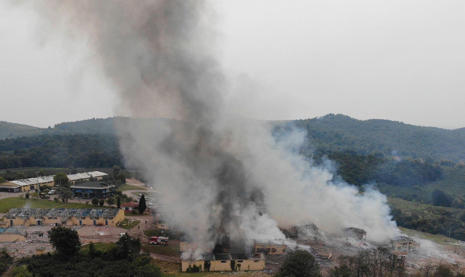 Explosionen in einer Feuerwerksfabrik in der Türkei