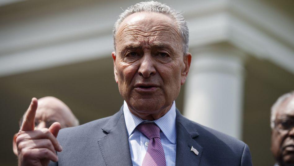 Der Fraktionschef der Demokraten im Senat, Chuck Schumer, nach der Einigung