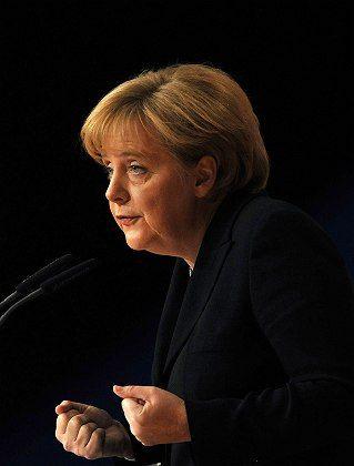 """Bundeskanzlerin Angela Merkel: """"Mindestens"""" 50 Megabit"""