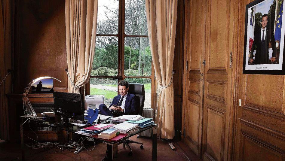 Regierungssprecher Griveaux 2018:Mit Macron verband ihn der gemeinsame Weg an die Macht