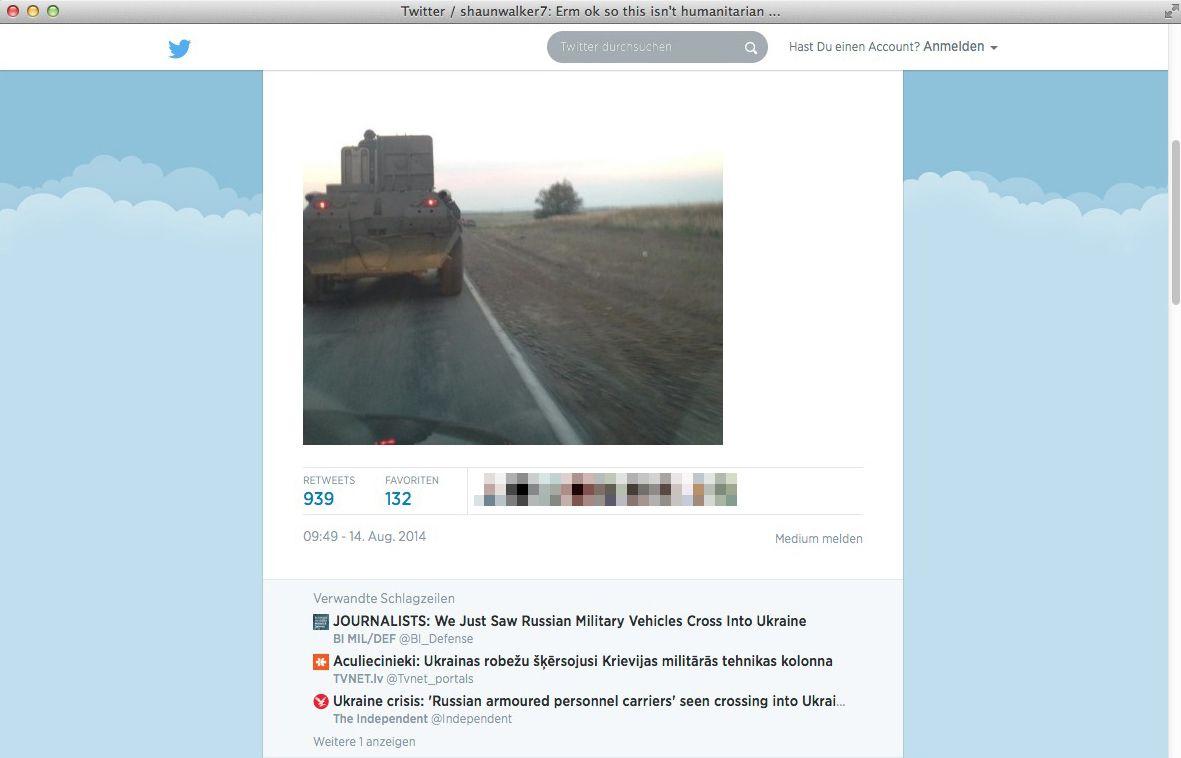 EINMALIGE VERWENDUNG Ukraine/ russische Militärfahrzeuge