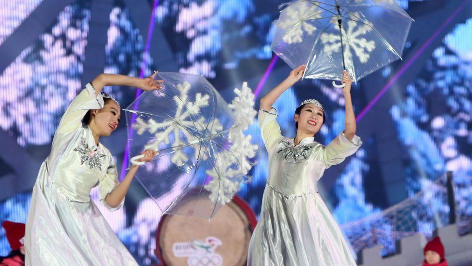 Olympia-Show in Peking: Knapper Wahlsieg gegen Almaty