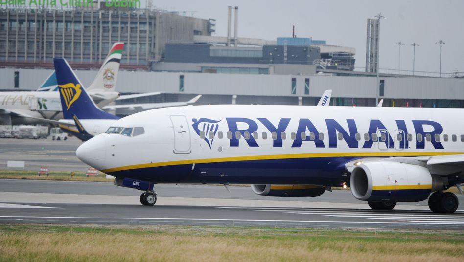 Ryanair-Flugzeug in Dublin