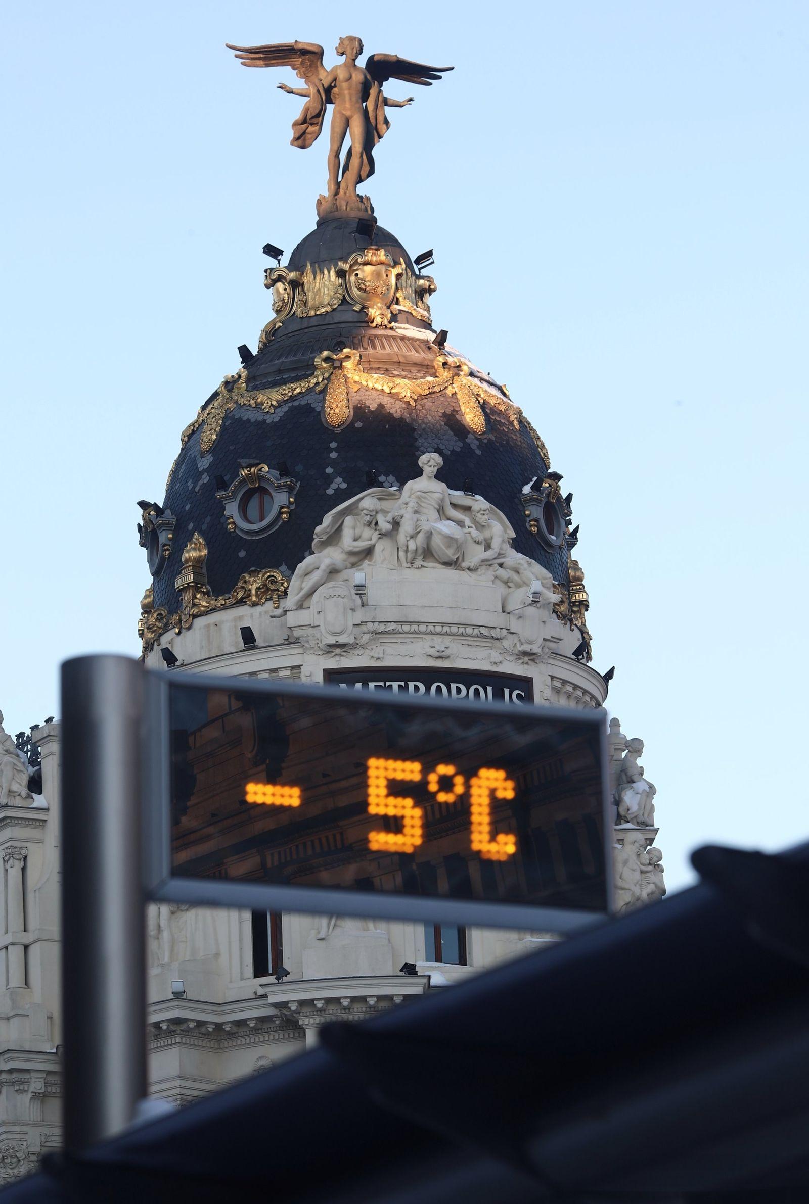 Eiskalte Temperaturen in Madrid
