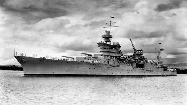 """Gesunkenes Kriegsschiff: So sehen die Überreste der """"Indianapolis"""" aus"""