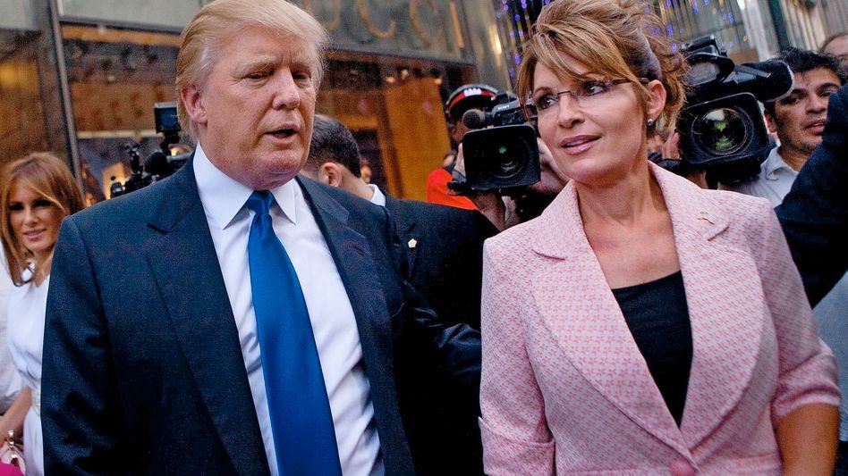 """Trump und Palin in New York (Archivbild 2011): """"Sie ist eine Freundin"""""""