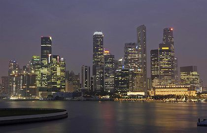 Singapore is worried about rising sea levels.