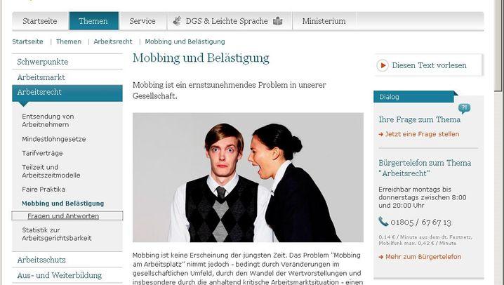 Mobbing: Informationen und Hilfe im Netz