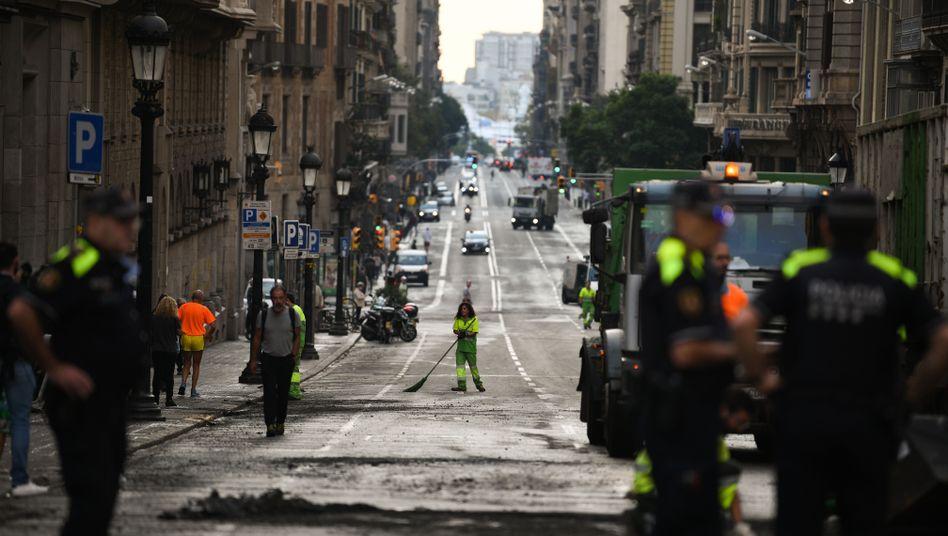 """Barcelona nach den Ausschreitungen: """"Eine solche extreme Gewalt hat es noch nie gegeben"""""""