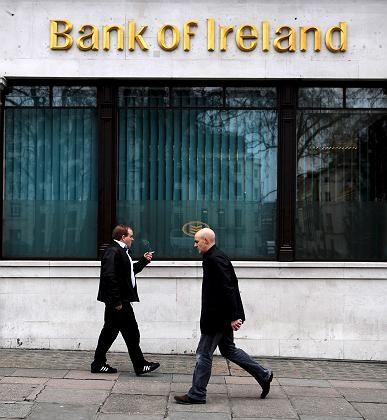 Filiale der Bank of Ireland in London: Zwei Milliarden Euro Hilfe vom Staat