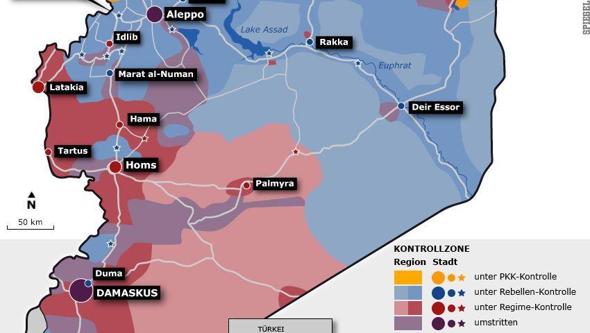 Geteiltes Syrien: Das Land entwickelt sich auseinander