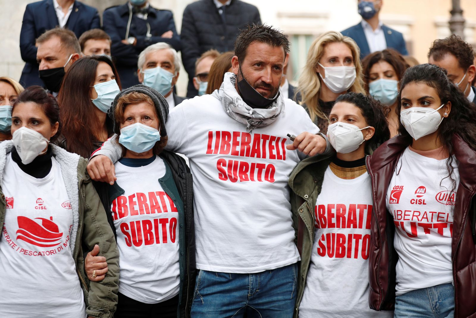 Families ask for the release of Italian fishermen arrested in Libya
