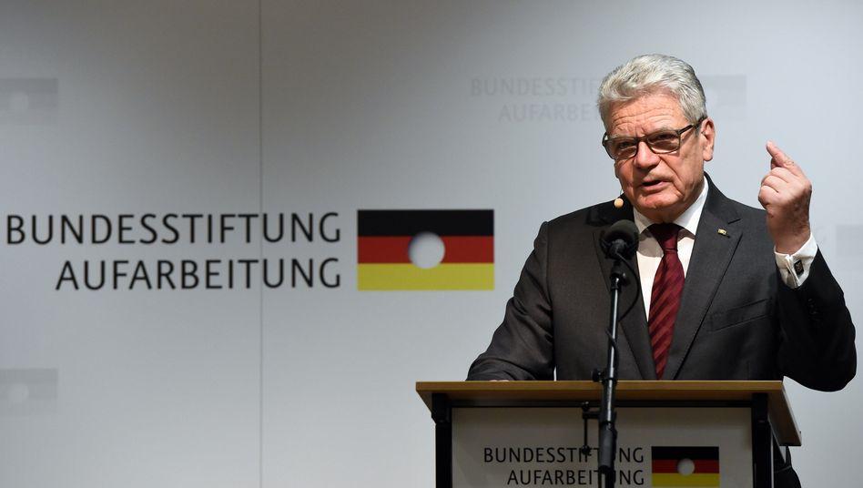 Bundespräsident Gauck: Erwartungen an Ramelows DDR-Aufarbeitungspläne