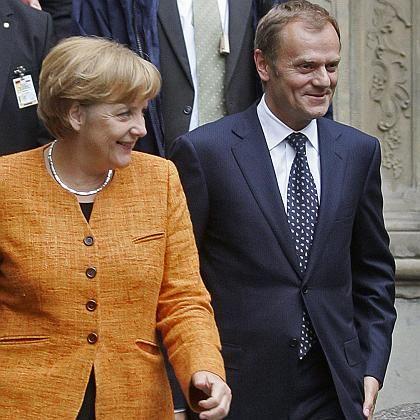 """Bundeskanzlerin Merkel und Polens Regierungschef Tusk: """"Wir brauchen den Lissaboner Vertrag"""""""