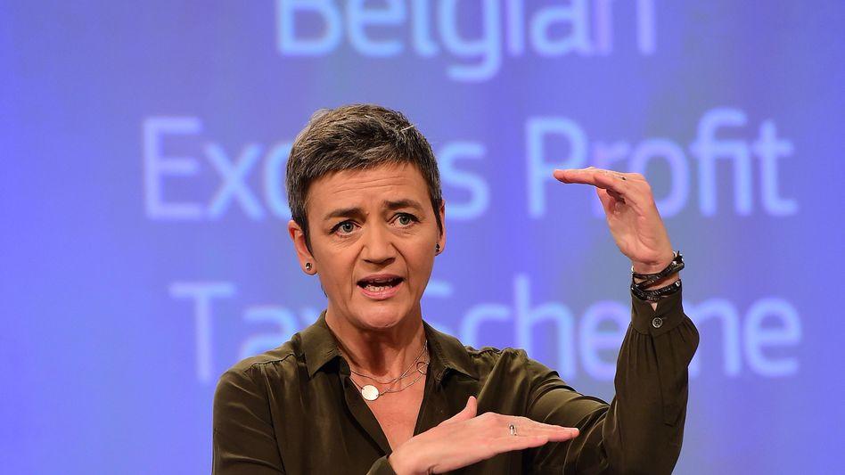 EU-Kommissarin Vestager: Belgische Steuerregelung illegal