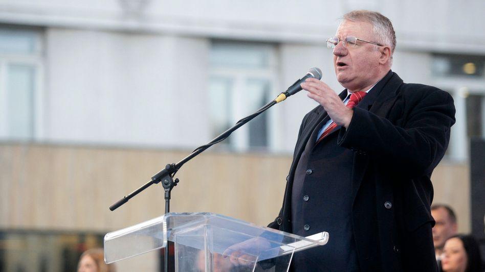 Serbischer Kriegsverbrecher Vojislav Seselj im Jahr 2016