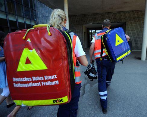 Rettungsdienstmitarbeiter in Freiburg