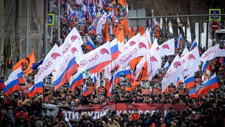 Moskau: Demonstrationen zu Ehren von Boris Nemzow