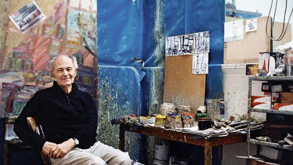 Maler Auerbach in seinem Londoner Atelier Ein Dandy - weil er tut, was er will