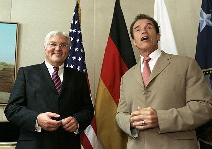 German Foreign Minister Frank-Walter Steinmeier was in California to meet with Gov. Arnold Schwarzenegger.
