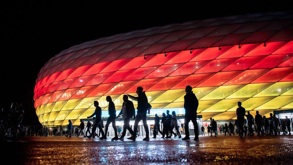 Allianz Arena in München während der Europameisterschaft
