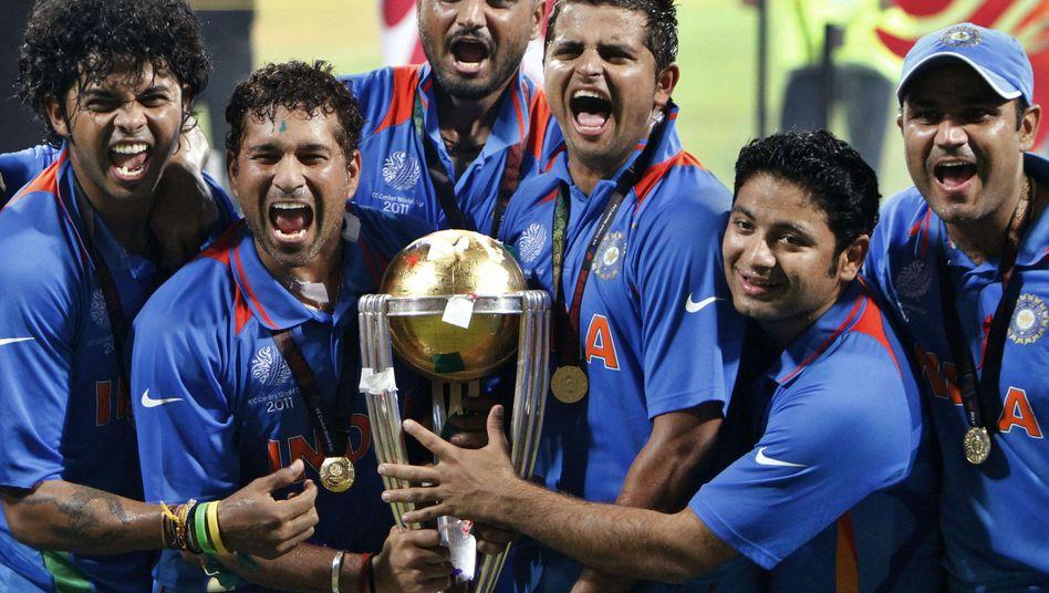 Indische Cricket-Nationalspieler: Erster WM-Erfolg seit fast 28 Jahren