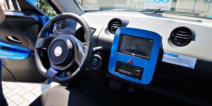 Cockpit des E-Go-Prototypen