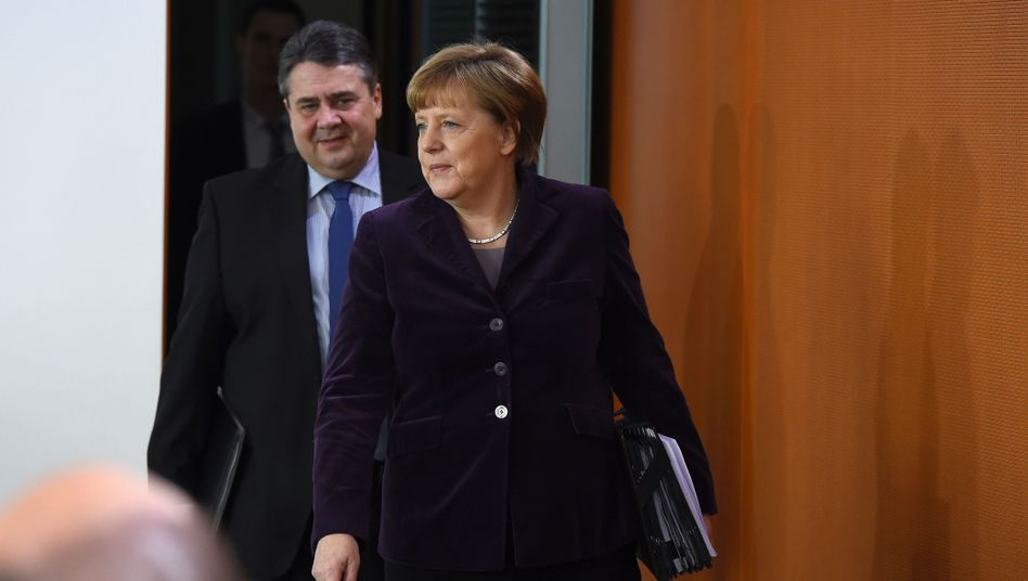 Vizekanzler Gabriel, Chefin Merkel: Kanzlerin am Zug