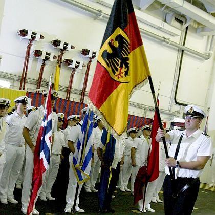 Kommando-Übergabe am 15. Oktober: Seitdem führt die deutsche Marine den Unifil-Verband vor dem Libanon