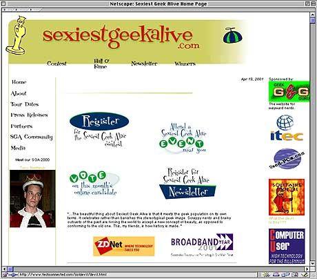 www.sexiestgeekalive.com: Hier kann man seine Bwerbungen abgeben. Oder die Konkurrenz studieren