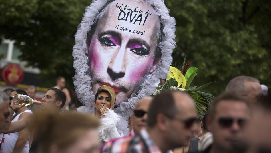 Christopher Street Day in Berlin: Putin in Pink