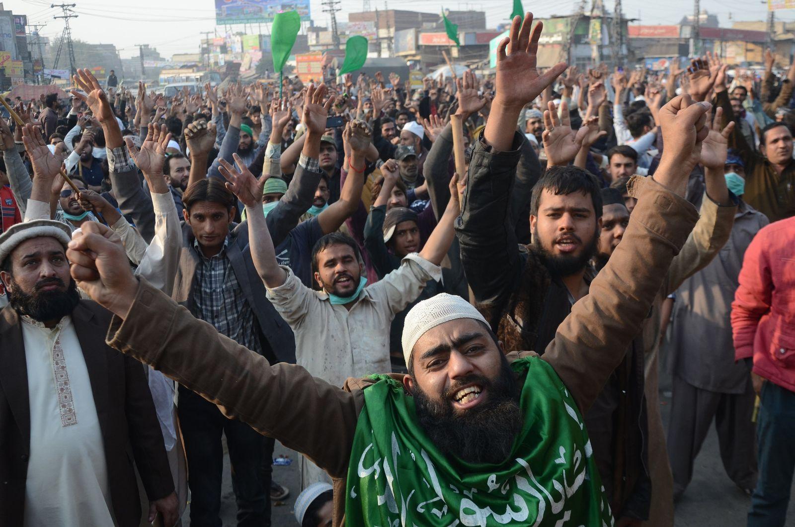 Islamisten Proteste Pakistan
