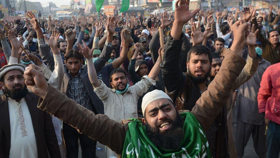 Solidaritätsprotest in Lahore, Pakistan