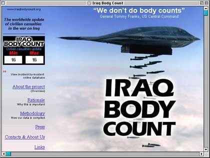 """""""Wir zählen keine Toten"""" soll General Tommy Franks gesagt haben. """"Body Count"""" übernimmt das nun für die Zahl toter Zivilisten"""