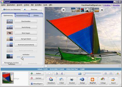 Frischere Farben: Die Freeware-Bilddatenbank Picasa bietet mehrere Automatiken für bessere Farben und Kontraste an