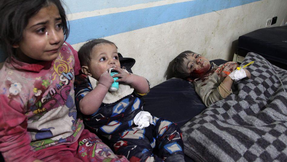 Verletzte Kinder in Syrien: Das Bürgerkriegsland ist eines der gefährlichsten Länder für Kinder