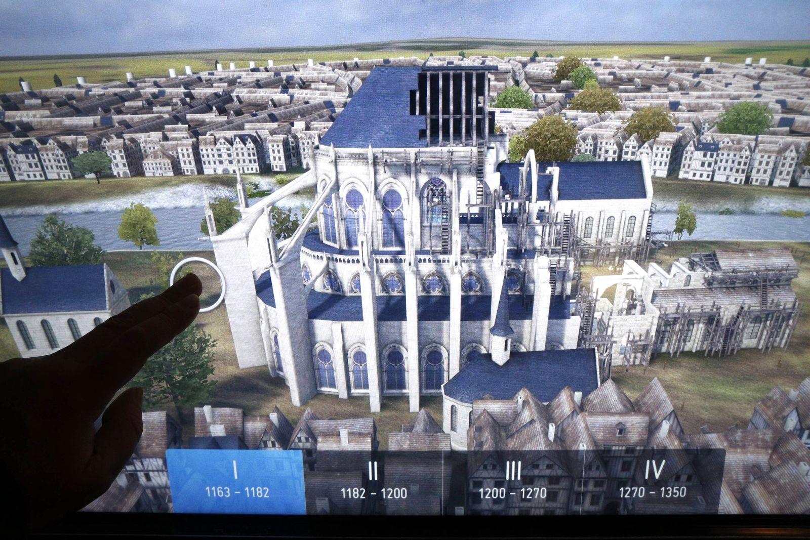 EINMALIGE VERWENDUNG Wiederaufbau / Notre Dame 3D