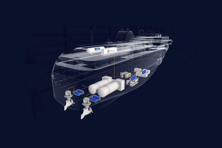 Die norwegische Werft Havyard entwickelt derzeit ein wasserstoffbetriebenes Linienschiff