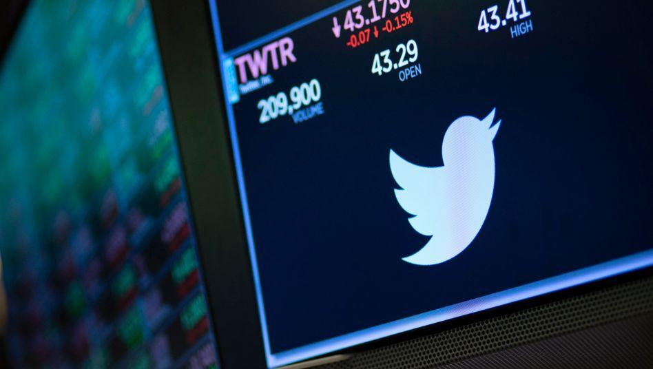 Twitter an der Börse (Archivbild): Anzeigenkunden hielten sich in der Krise zurück