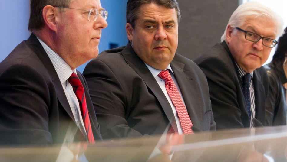 SPD-Troika aus Steinbrück, Gabriel, Steinmeier (v.l.): Problem Kandidatenkür